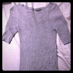 Express light sweater, medium gray color